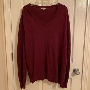 3/$25 Men Burgundy Sweater Perfect Oversized Look